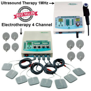 Portable 4 Channel Physiotherapy Unit Ultrasound 1mhz Therapy Massager Machine