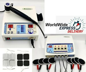 Portable Medinza 4 Channel Physical Therapy Unit Ultrasound 1mhz Therapy Machine
