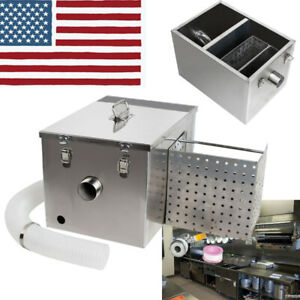 Grease Trap Set Stainless Steel Interceptor Filter Commercial Removable Baffles