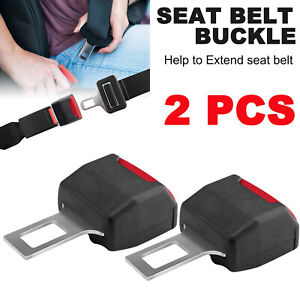 2pcs Universal Car Seat Safety Belt Buckle Extender Vehicle Suv Extension Clip