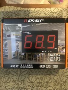 Sndway Sw 525a 30 130db Digital Sound Level Meter With Large Lcd Display Nois