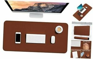 Desk Pad 30 X 14 Pu Leather Desk Mat Xl Extended Mouse Pad Leather Brown