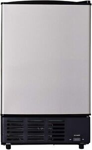 Commercial Built in Ice Maker Cube Machine Undercounter Freezer Stainless Steel