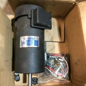 Dc Motor 1 5 Hp Dc 180 Volts 2800 Rpm 5 8 Shaft Lathe Mill With Controller