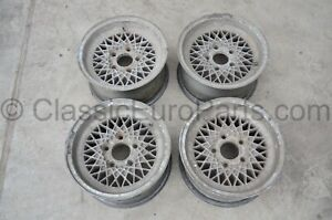 14 7j 5x120 Bbs Mahle Ra Wheels For Bmw E3 E9 E12 E23 E24 E28 With Defects