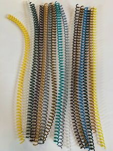 16 Pieces Lot Of 6mm 8mm Spiral Binding Coils 12 Different Colors