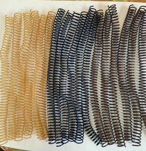 18 Pieces Lot Of 14mm Spiral Binding Coils 12 Different Colors