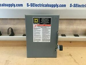 Square D D221n Safety Switch General Duty Fusible 30a 240v 2p Nema1
