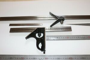 Starrett Metric Combination Square And Other Metric Scales 8 Pc Condition Used
