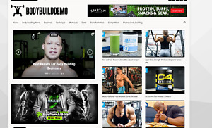Body Building News Affiliate Website 100 Automated Free Domain Hosting
