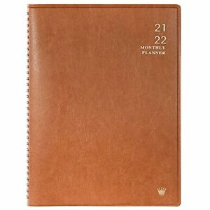 2021 2022 Monthly Planner Book Personal Organizer Calendar Daily Activity brown