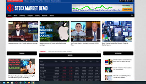 Stock Market News Guides Site 100 Automated Free Domain Hosting