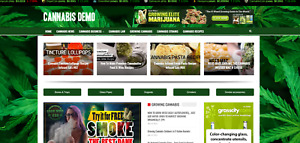 Cannabis News Guides Affiliate Site 100 Automated free Domain Hosting