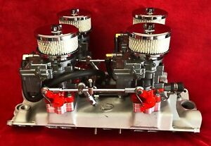 Offenhauser 4 deuce Fuel System For 348 Chevy