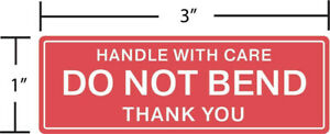 Pack Of 50 Do Not Bend Handle With Care Stickers Labels