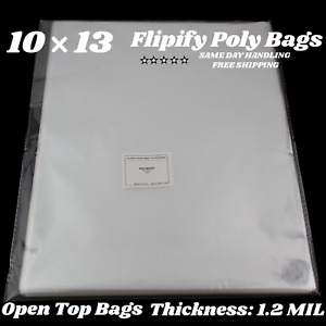 10x13 Clear Bags Large Plastic Packaging Top Open Flat Packing T shirt Apparel