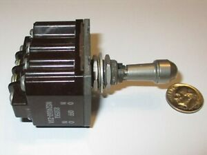 C h Eaton Sealed Toggle Switch 4pdt C off On off on Locking Ms24660 21a Nos