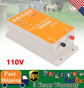 Electric Solar Fence Energizer Controller Ranch Animal Orchards Fencing Charge