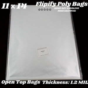 11x14 Clear Bags Large Plastic Packaging Open Top Flat Packing T shirt Apparel