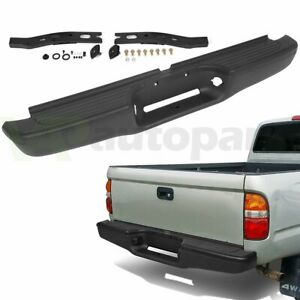New Black Complete Rear Steel Bumper Assembly Fits For 1995 2004 Toyota Tacoma