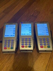 Lot Of 3 Verifone Vx 680 Credit Debit Card And Chip Reader Pos Terminals