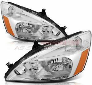 For 2003 2007 Honda Accord Headlights Replacement Assembly Front Headlamps Set Fits 2003 Honda Accord Coupe