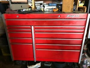 Red Used Snap On Tool Box With Free Snap On Tools Included