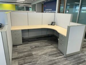 Super Clean Steelcase 7 5 x6 Office Cubicles Workstations