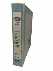 Hp 8340a Operating Manual Synthesized Sweeper 10 Mhz To 26 5 Ghz Vol 1