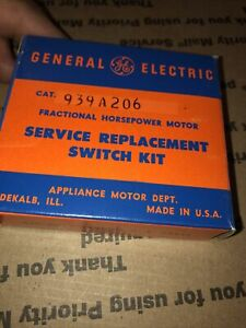 Ge General Electric Motor Service Replacement Starting Switch 939a206