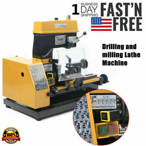 Micro Multi function Machine Drilling And Milling Lathe Machine Ct125 110v Us