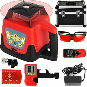 360 Rotary 500m Range Red Laser Levelling Device Instrument Kit For Construction