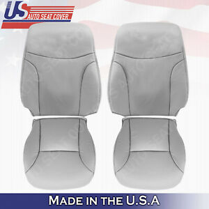 Fits 2002 To 2006 Lexus Es300 Es330 Front Set Top Bottom Leather Cover Gray