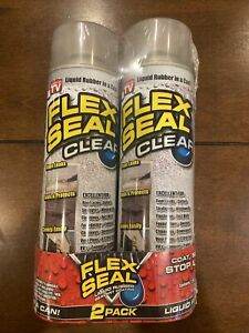 New Flex Seal Spray Rubber Sealant Coating 14 oz Clear 2 Pack As Seen On Tv