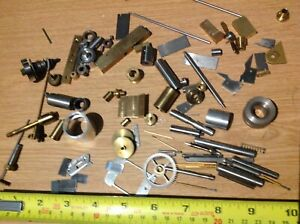 Brass amp; Steel Parts Tools amp; Material From Clock Clockmakers Spare Parts Box r33 GBP 24.99