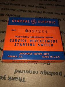 General Electric Motor Service Replacement Starting Switch 939a204