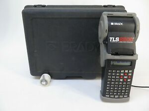 Brady Tls 2200 Thermal Labeling System W Case Charger Tls2200