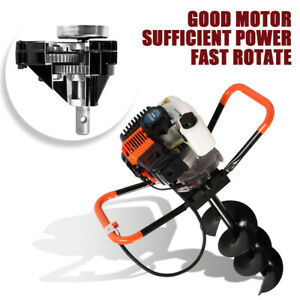 52cc Earth Auger Petrol Powered Post Hole Digger Machine 3 Bits extension Bar