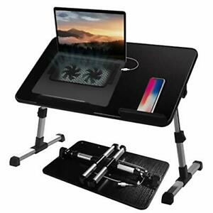 Adjustable Lap Desk With Cooling Fan Proglobe Lapdesk With Fans Laptop Stand