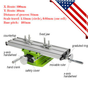 Mini Worktable Milling Machine Table Cross Slide X Y Axis Lathe Bench Drill Vise