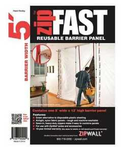Zipwall Zf5 Barrier Panel 5ftlx12fth white