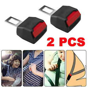2x Universal Car Seat Safety Belt Buckle Extension Vehicle Suv Extender Clip Usa