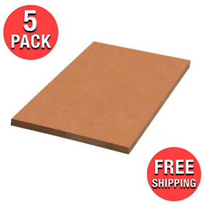 5x 24x30 Cardboard Paper Inserts Pads Corrugated Sheets Packing Shipping Cartons
