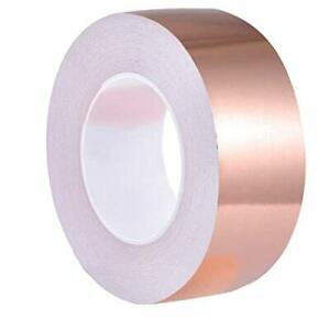 Copper Foil Tape 2 Inch X 33 Ft With Double sided Conductive Adhesive For Guitar