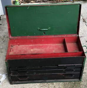 Ugly Beat Up 1940s Snap On Tools 6 Drawer Top Storage Toolbox Chest