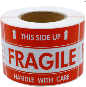3x5 Inch Handle With Care This Side Up Fragile Stickers Adhesive Label 100 Per R