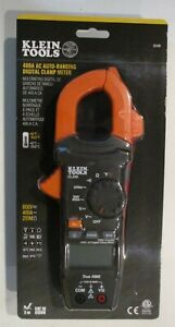 Klein Tools Cl220 Digital Clamp Meter Ac Auto ranging 400 Amp With Temp New