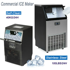 Smad Built in Commercial Ice Maker Machine Stainless Steel 88 100 Lbs 24 H