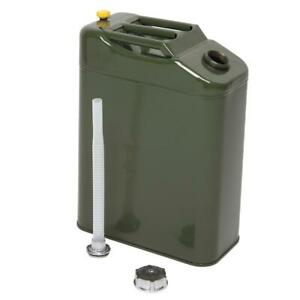 New Portable Army Green 20l 5 Gallon Gas Fuel Can Fuel Gasoline Steel Tank Green
