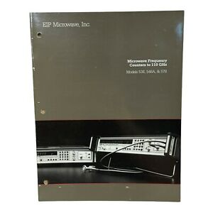 Eip Microwave Models 538 548a 578 Frequency Counters Technical Data Sheet